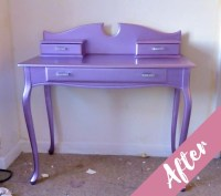 Customer's Metallic Purple Shabby Chic Dressing Table