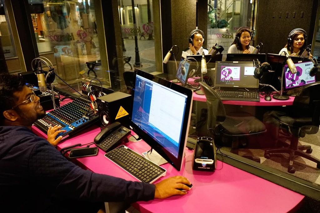 KidZania SG - Staff running through the role-play programming at the radio station