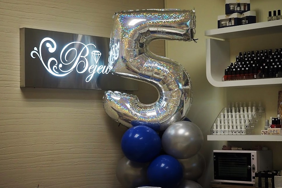 Bejeweled celebrates 5th Anniversary…Thank you for the beautiful nails