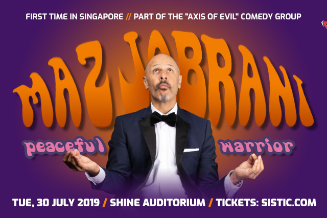 Watch Maz Jobrani's Peaceful Warrior live in Singapore