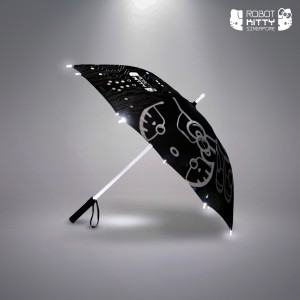 Robot Kitty LED-Lit Umbrella