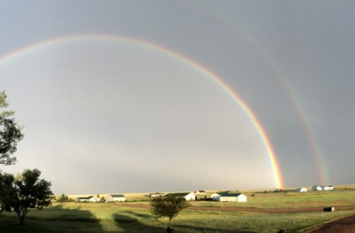 Double Rainbows are a Common View from my Driveway