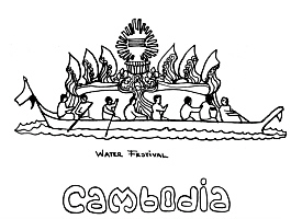 cambodia Colouring Pages
