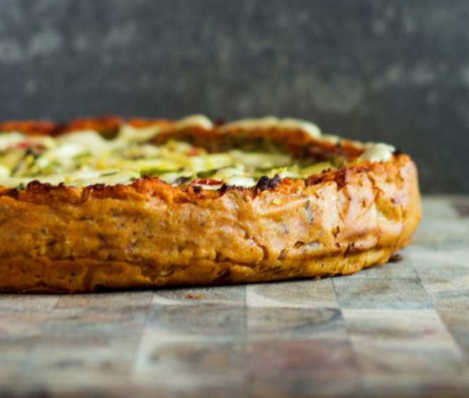 deep dish pizza quiche vegan 3