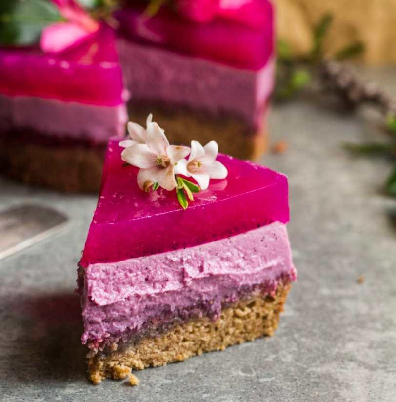 pitaya layer cake vegan 4