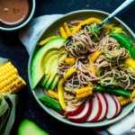 Summery soba noodles