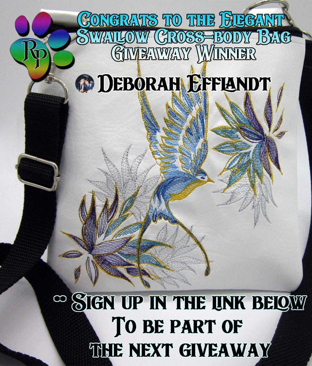 Elegant Swallow Giveaway Winner