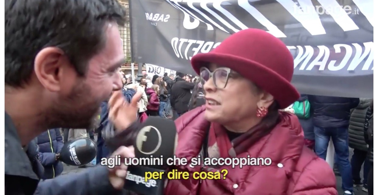 "Omofobia al Christian Day di Roma : "" I gay portano i terremoti""."