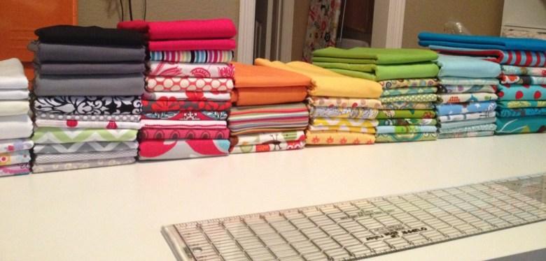 Beautifully folded fabric stash