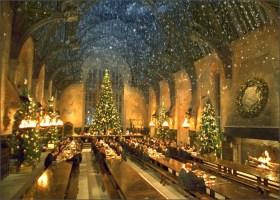 Harry Potter Hogwarts Dining Hall Snow