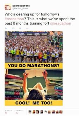 Redathon Marathon Tweet