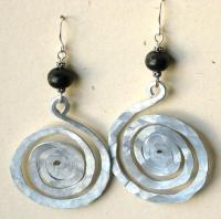 Large Aluminum Spiral Earrings