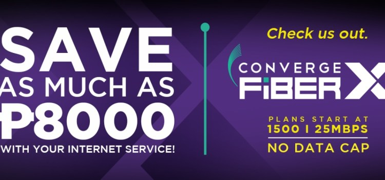 Get as Much as 8,000 Pesos of Savings with No Data Cap Converge FiberX Plans