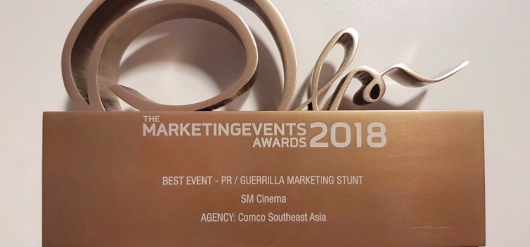 SM Cinema Wins at Marketing Events Awards 2018 in Singapore for Avengers and Deadpool Campaigns