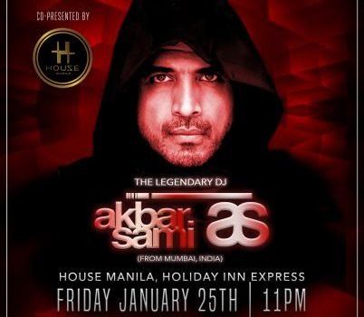 DJ Akbar Sami To Perform at  House Manila on January 25