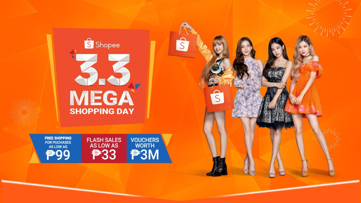 BLACKPINK on Shopee 3.3 Mega Shopping Day This February