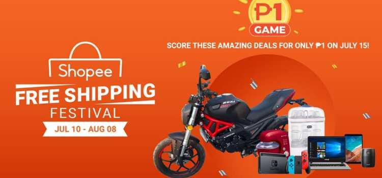 Rusi Motorcycle, Nintendo Switch and 5 More Other 1 Peso Items at Shopee on July 15