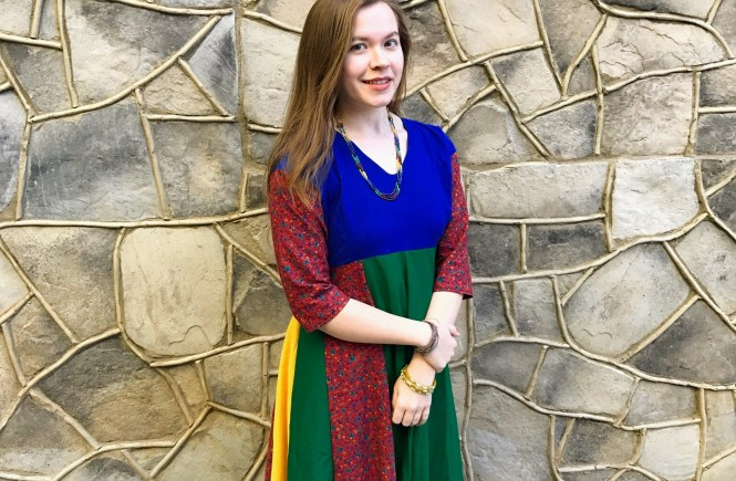 Sewing Saturday: Colorful Anarkali Dress | Raine In The City
