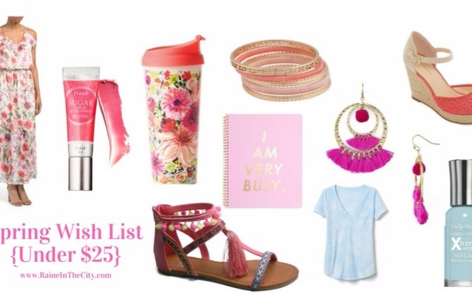 Spring Wish List (Top 10 $25 & Under) | Raine In The City