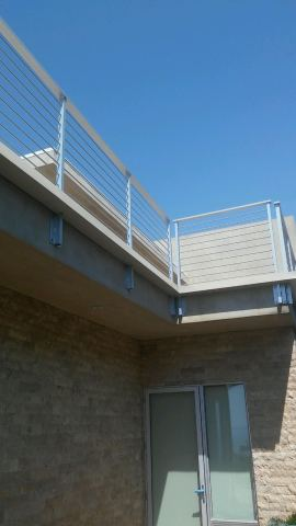 custom box gutter around balcony railing - Rancho Palos Verdes 90274(1)