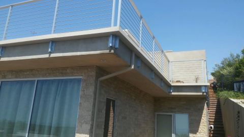 custom box gutter around railing for balcony Rancho Palos Verdes 90274(2)
