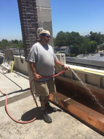 custom copper box fountain rooftop - The Catch Restaurant in West Hollywood 90069(3)