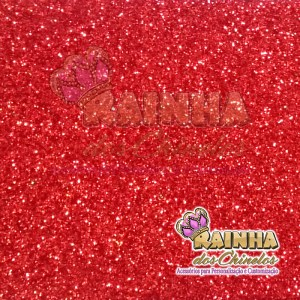 Lonita Glitter Fino Vermelha