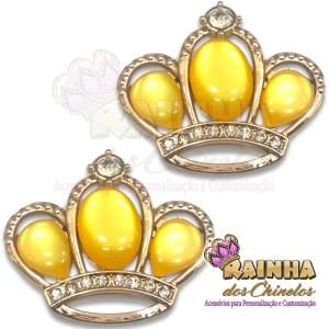 Piercing Coroa Chaton Amarelo