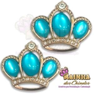 Piercing Coroa Chaton Azul Bebê