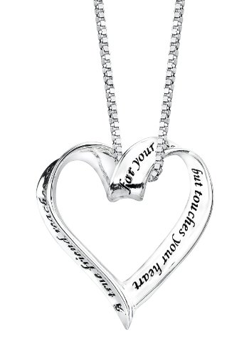 """Amazon: Sterling Silver """"A True Friend Reaches For Your"""
