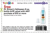 Babies R Us/Toys R Us: FREE Dr. Browns Halloween 8-oz ...
