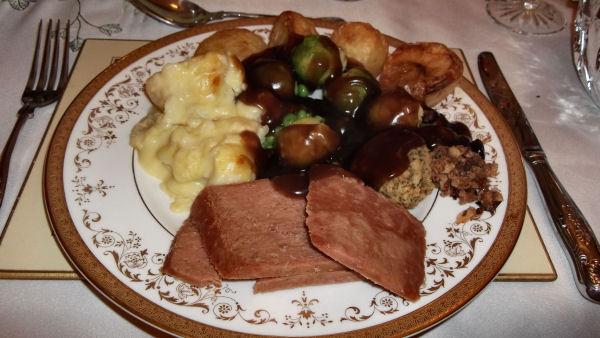 Vegetarian Christmas day dinner