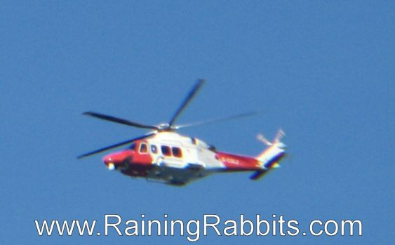 Helicopter over Solent