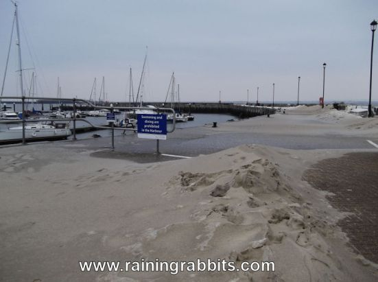 Storm Emma - Ryde Harbour - Isle of Wight