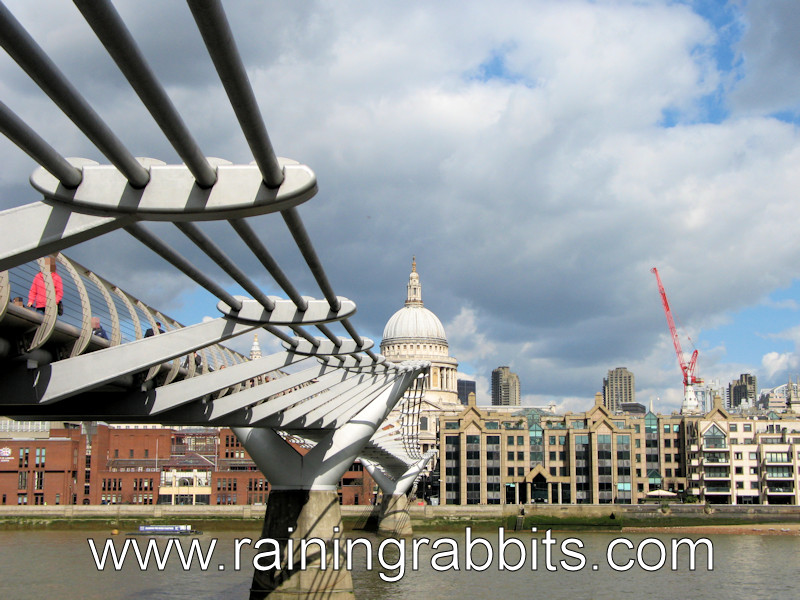 Millennium Bridge and River Thames