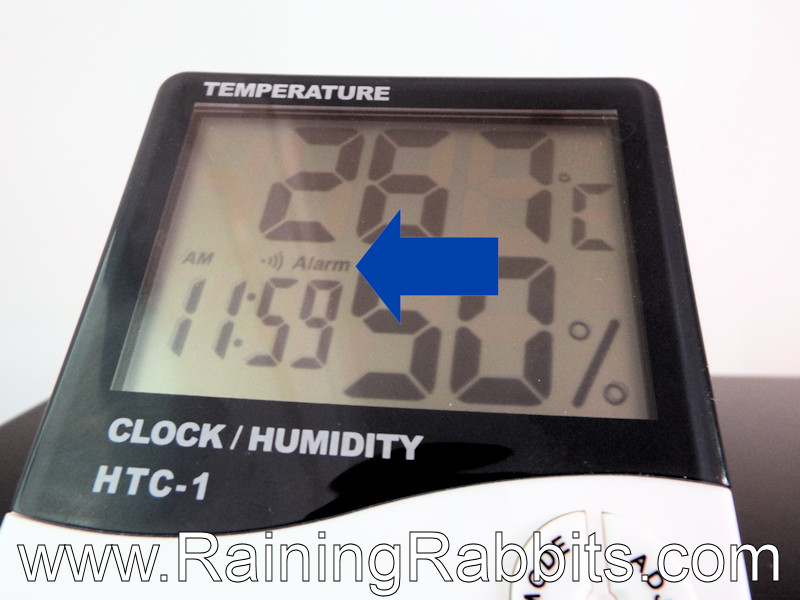 HTC-1 Thermometer Alarm Function