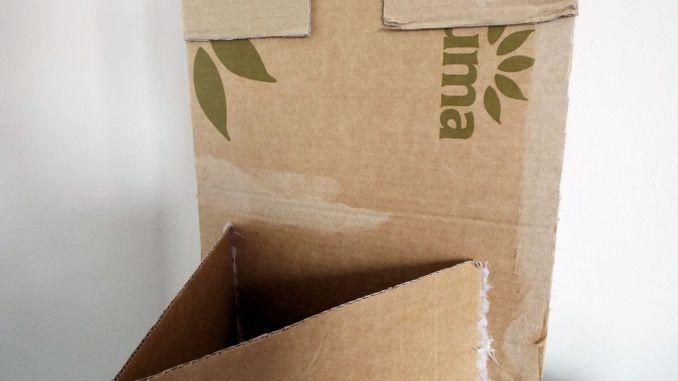 cardboard partition