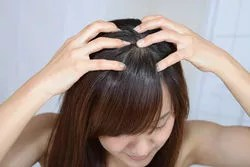Massing the scalp can help to restore hair growth