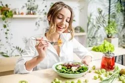 Healthy diet give a youthful skin