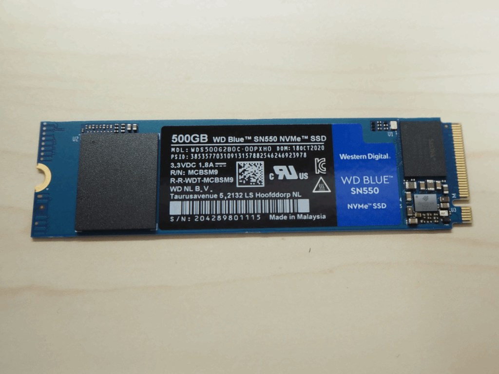 WD Blue SN550 NVMe SSD(500GB)