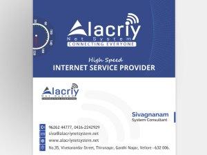 Business Card Alacriy Net