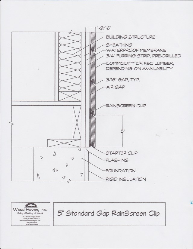 "5"" Standard Gap Rainscreen"