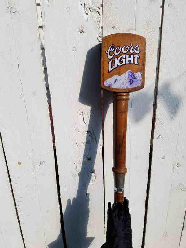 Coors Light Tap Handle Umbrella