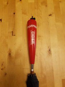 Harpoon Cider Tap Handle Umbrella