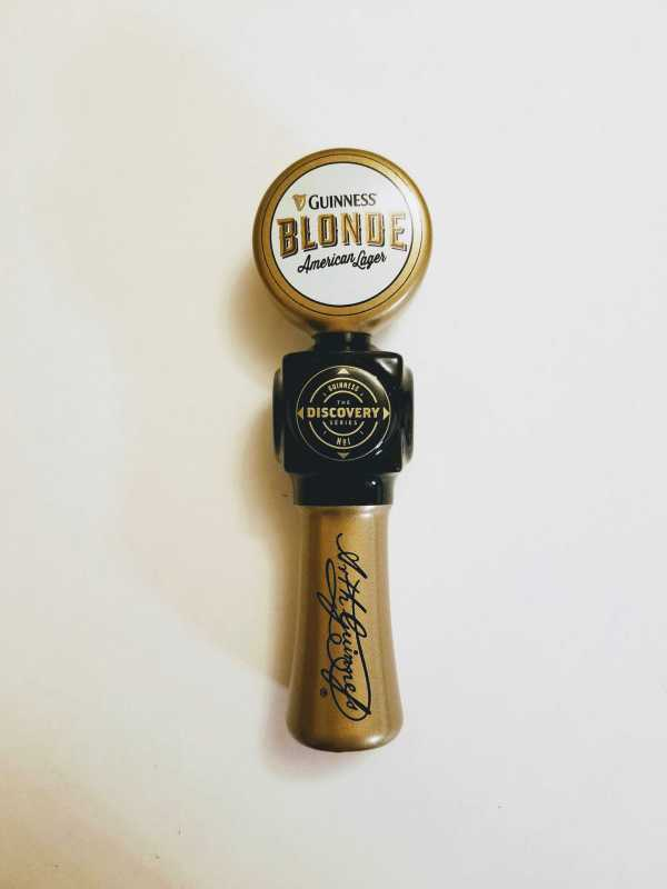 Short Guinness Blonde American Lager Tap Handle