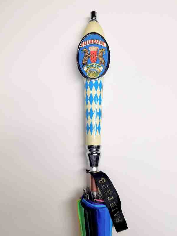 Ayinger Brewery umbrella celebrator tap handle