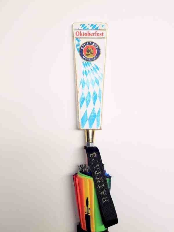 Custom Paulaner Umbrella with Oktoberfest Tap Handle