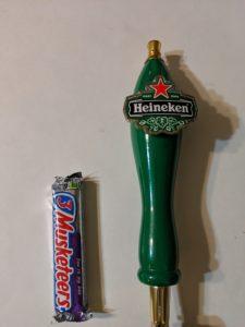 Large Vintage Wooden Heineken Tap Handle