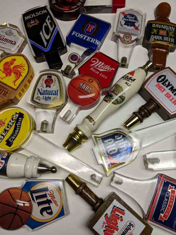 Assorted Vintage Beer Tap Handles