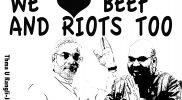 We Love Beef & Riots too – a poster by Thma U Rangli Juki